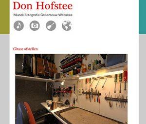 Don Hofstee website