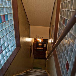 名曲喫茶ウィーン入口階段